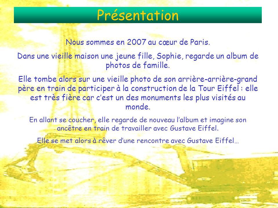 Présentation Nous sommes en 2007 au cœur de Paris. Dans une vieille maison une jeune fille, Sophie, regarde un album de photos de famille. Elle tombe