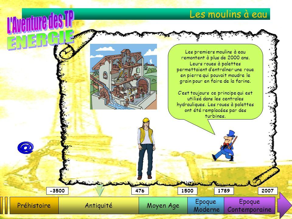 Les moulins à eau PréhistoireAntiquitéMoyen Age Epoque Moderne Epoque Contemporaine -3500476150017892007 Les premiers moulins à eau remontent à plus d