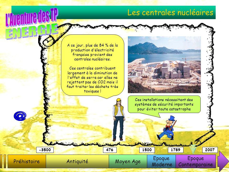 Les centrales nucléaires PréhistoireAntiquitéMoyen Age Epoque Moderne Epoque Contemporaine -3500476150017892007 A ce jour, plus de 84 % de la producti