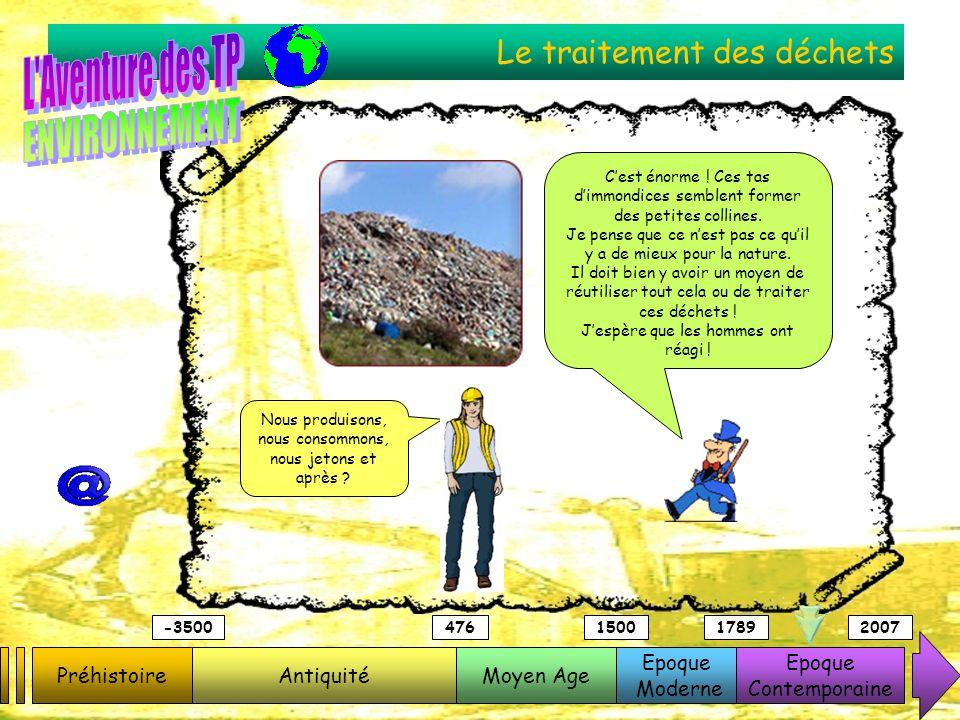 Le traitement des déchets PréhistoireAntiquitéMoyen Age Epoque Moderne Epoque Contemporaine -3500476150017892007 Cest énorme ! Ces tas dimmondices sem