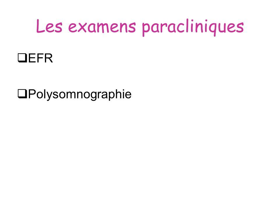 Les examens paracliniques EFR Polysomnographie