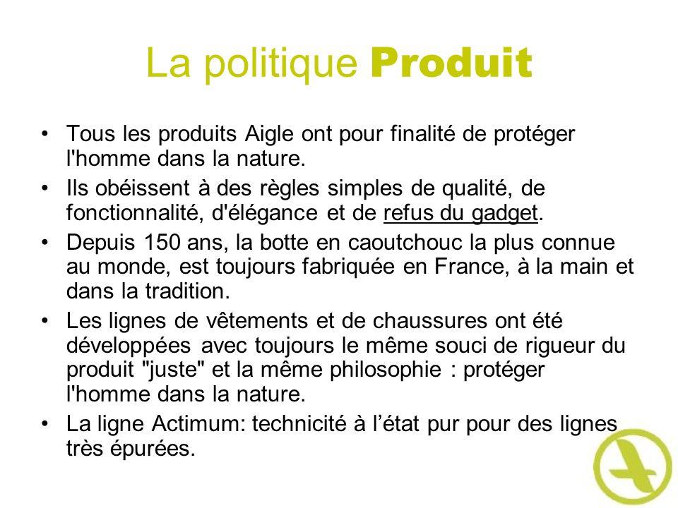 La politique Produit Tous les produits Aigle ont pour finalité de protéger l'homme dans la nature. Ils obéissent à des règles simples de qualité, de f