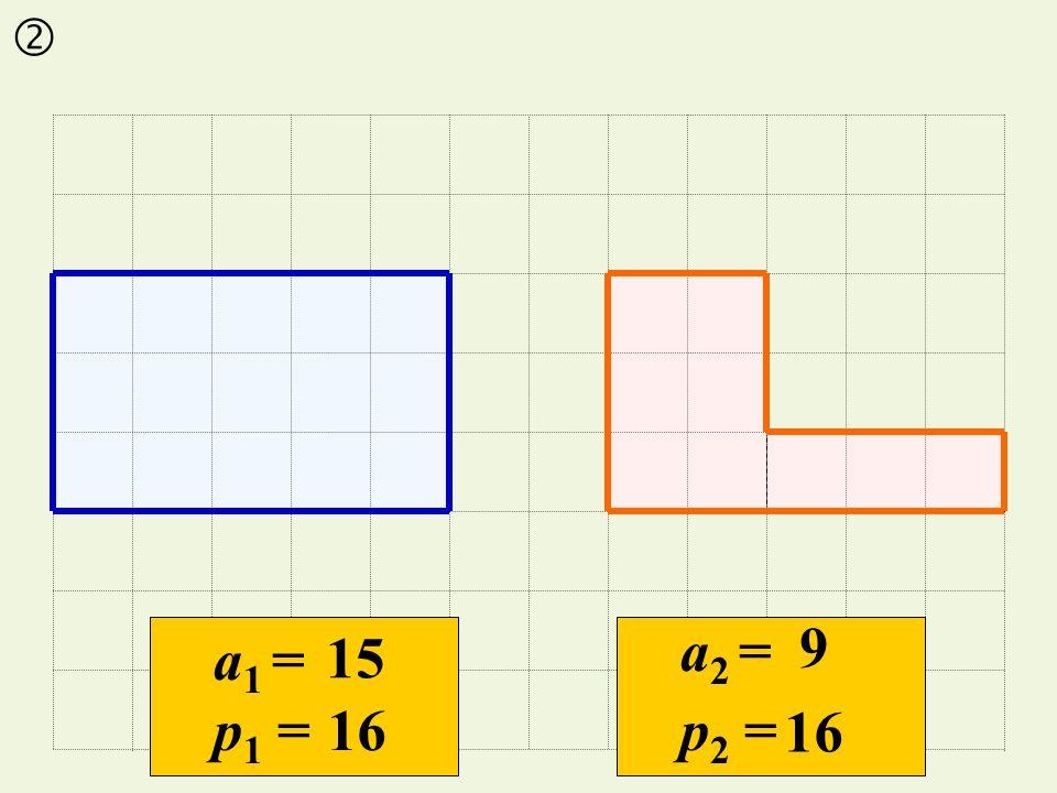 15 16 9 a1 =a1 = p 1 = a2 =a2 = p 2 =
