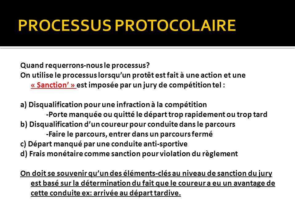 Requirements Of Due Process Due Process: Before making its final decision the Technical Delegate should summarize for the Jury all of the evidence presented as well as all of the applicable FIS Rules (ICRs).