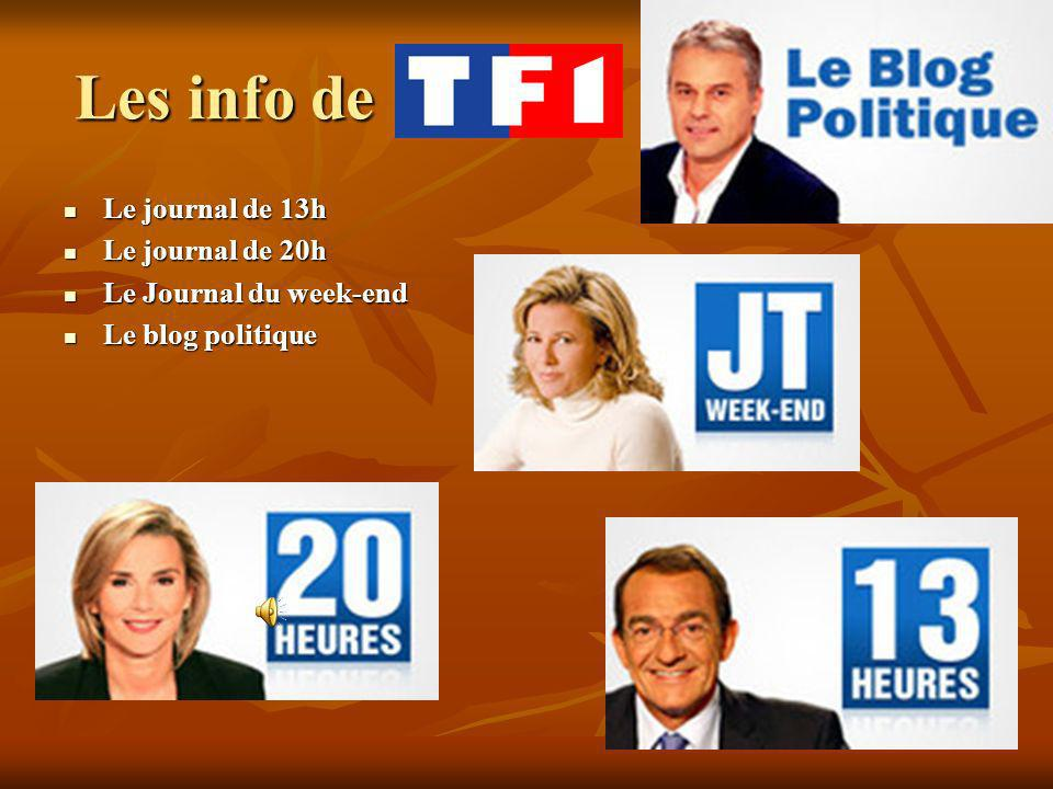 Les info de Le journal de 13h Le journal de 13h Le journal de 20h Le journal de 20h Le Journal du week-end Le Journal du week-end Le blog politique Le blog politique