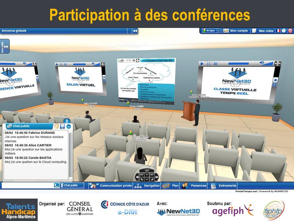 Organisé par: Soutenu par: Alpes-Maritimes Avec: Rencontres des candidats avec les recruteurs 7 Immersion 3D – Communication & Interactivité temps réel
