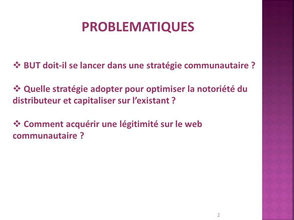 1. Argumentaire 2. Analyse de lexistant BUT 3. Analyse de la blogosphère 4. Recommandations 3