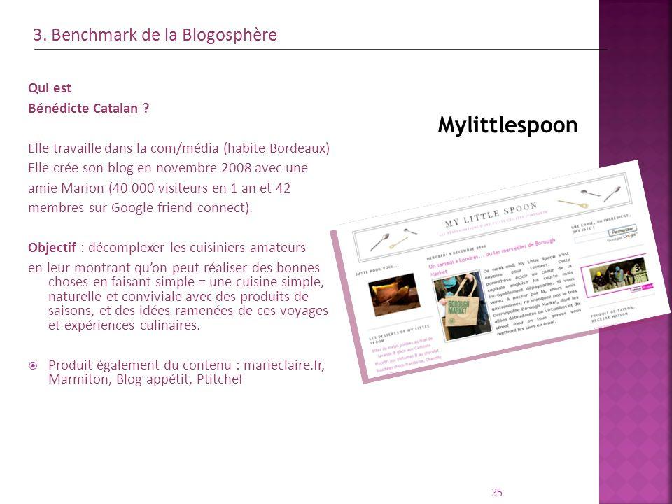 Qui est Bénédicte Catalan ? Elle travaille dans la com/média (habite Bordeaux) Elle crée son blog en novembre 2008 avec une amie Marion (40 000 visite
