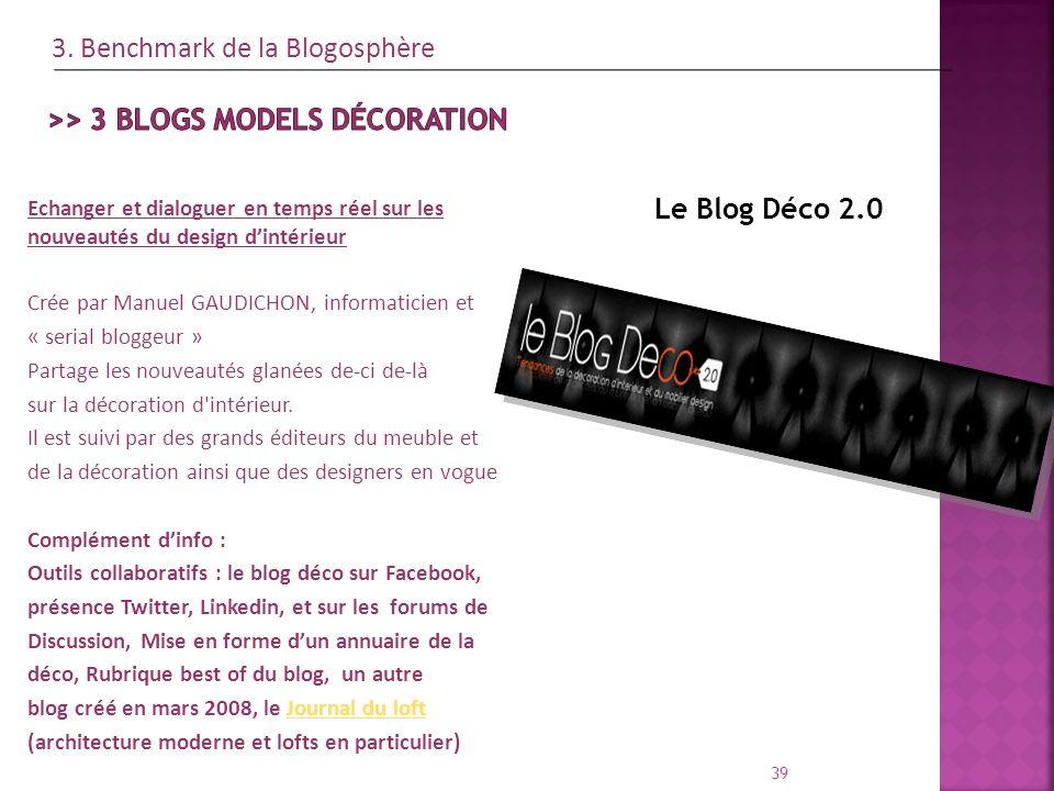 Le Blog Déco 2.0 39 Echanger et dialoguer en temps réel sur les nouveautés du design dintérieur Crée par Manuel GAUDICHON, informaticien et « serial b