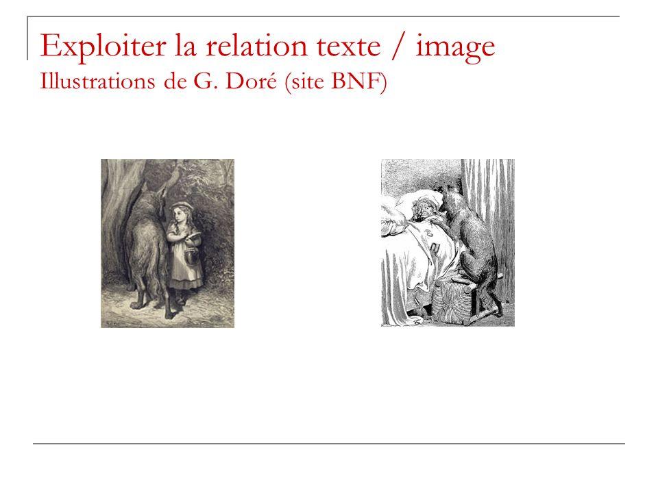Activités Phrase du texte en légende à chaque illustration Images à mettre dans lordre du récit Repérage des choix de lillustrateur : dramatisation avec étude des plans, des effets de lumière et de contraste