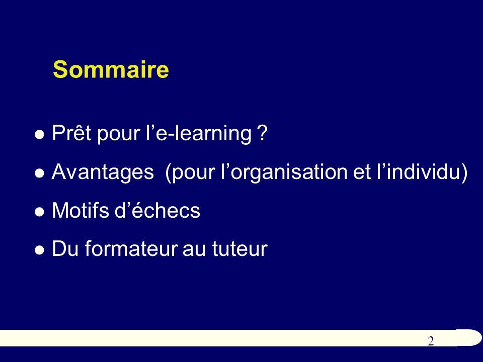 2 Sommaire Prêt pour le-learning .