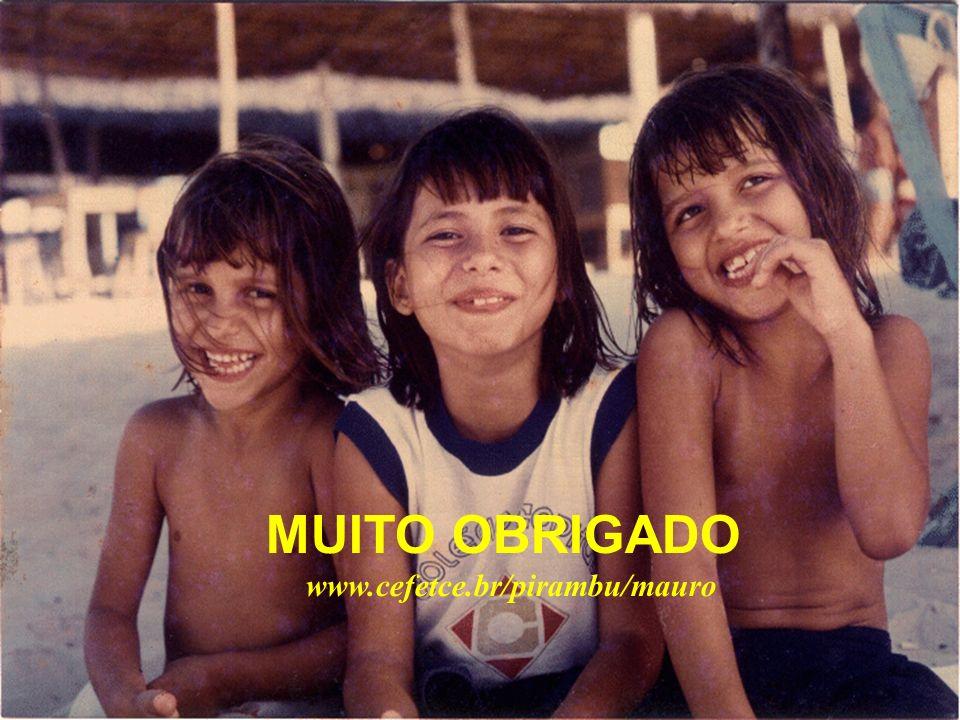 MUITO OBRIGADO www.cefetce.br/pirambu/mauro