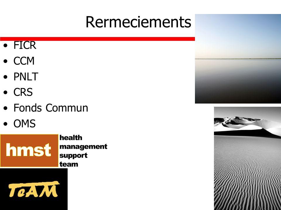 Rermeciements FICR CCM PNLT CRS Fonds Commun OMS