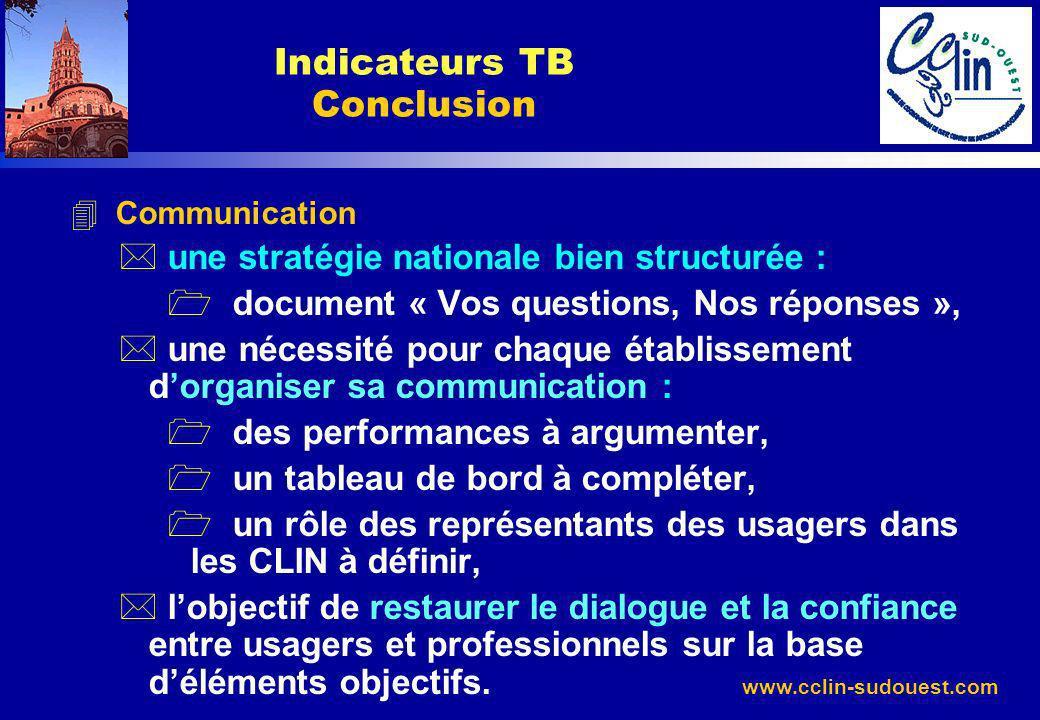 www.cclin-sudouest.com 4 Communication * une stratégie nationale bien structurée : 1 document « Vos questions, Nos réponses », * une nécessité pour ch