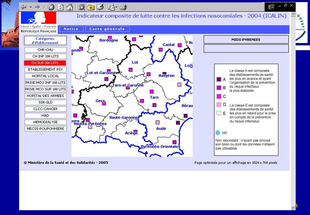 www.cclin-sudouest.com Programme national TB-ICALIN Circulaire DHOS/E2/DGS/5C/2006/82 du 24 février 2006 relative aux mesures à envisager pour l amélioration du niveau d activités des établissements de santé en matière de lutte contre les infections nosocomiales
