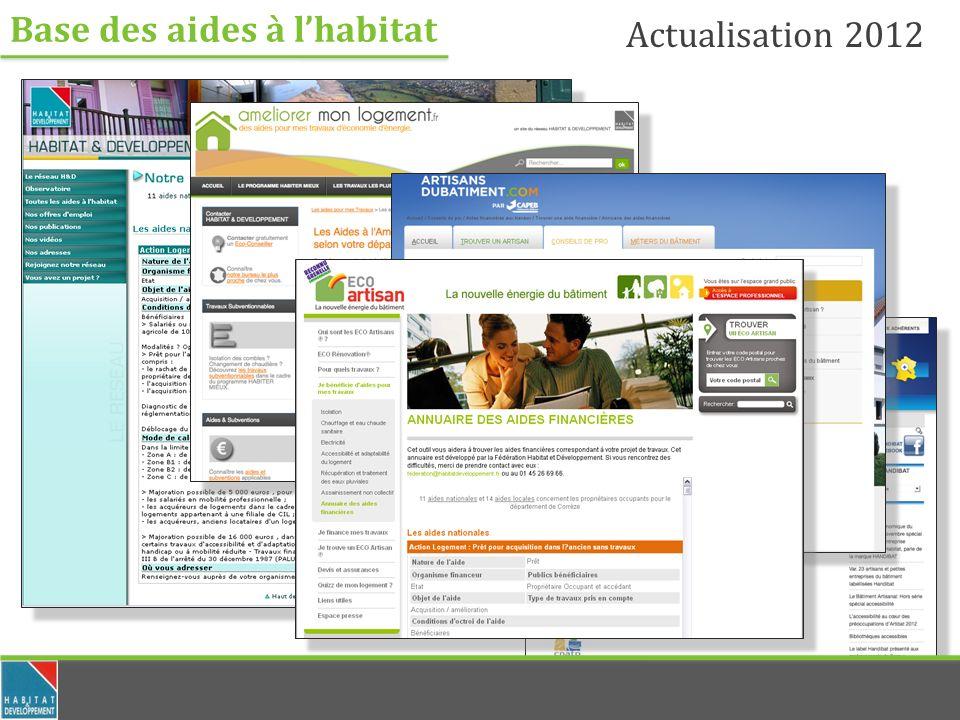 Base des aides à lhabitat Actualisation 2012