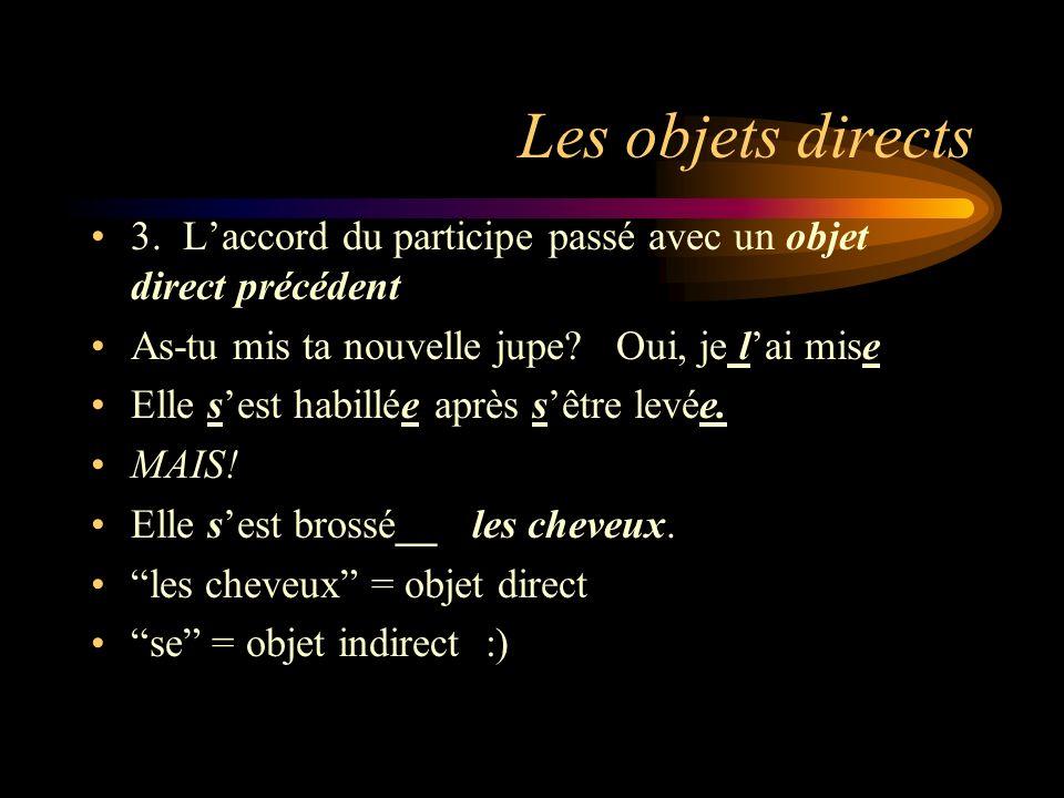 Les Pronoms Objets Indirects 1.Un pronom objet indirect remplace à (to, for) + une personne.