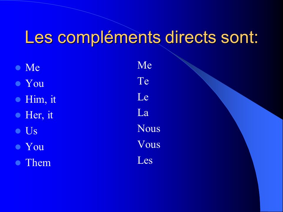 MORE NOTES: La norme: Comparisons 4.1: – Understanding the nature of langue through making comparisons La question essentielle: – What does « en » replace in a sentence.