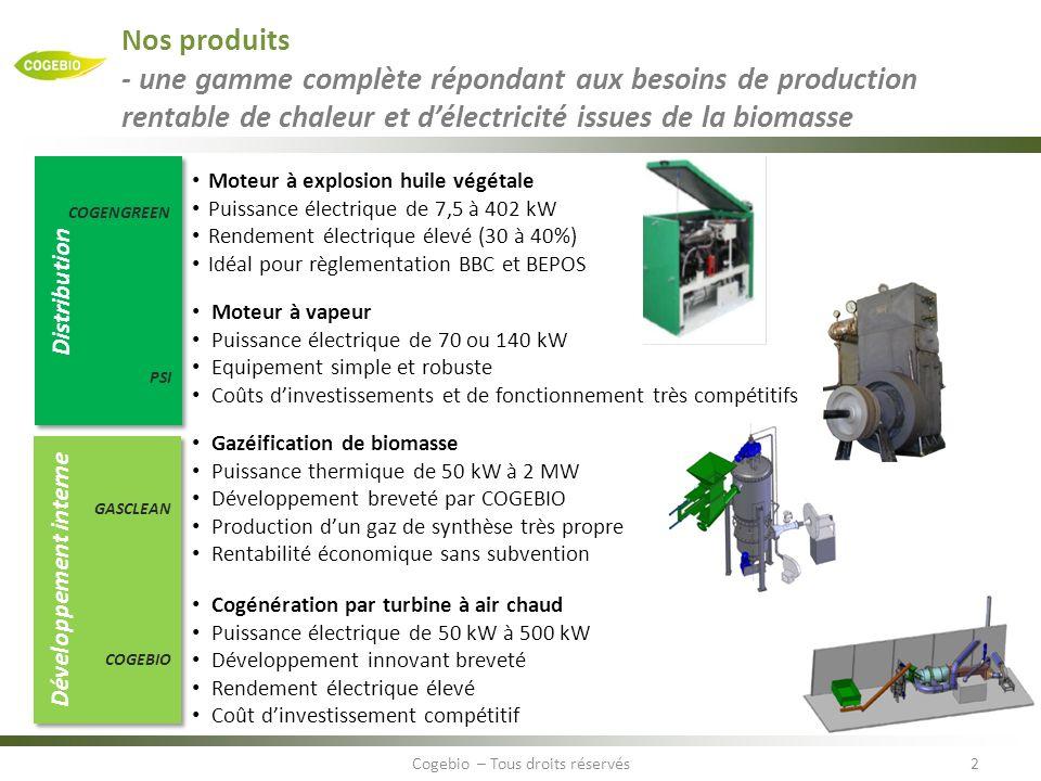 Nos produits - une gamme complète répondant aux besoins de production rentable de chaleur et délectricité issues de la biomasse 2Cogebio – Tous droits