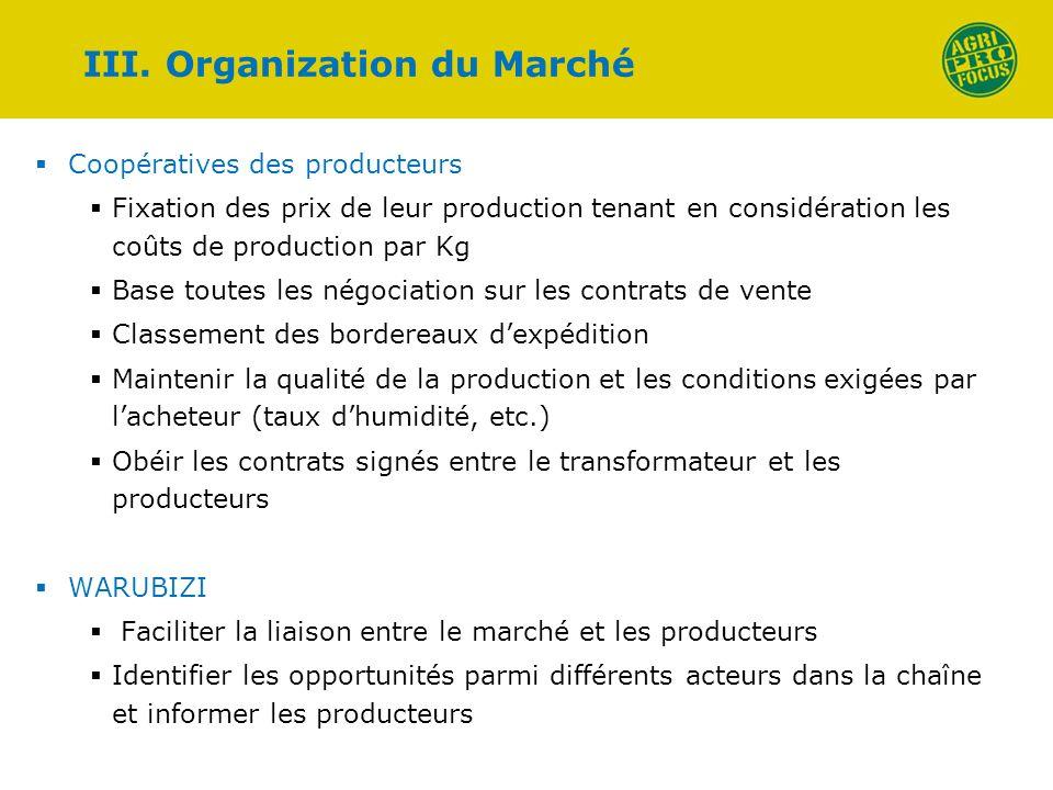 Coopératives des producteurs Fixation des prix de leur production tenant en considération les coûts de production par Kg Base toutes les négociation s