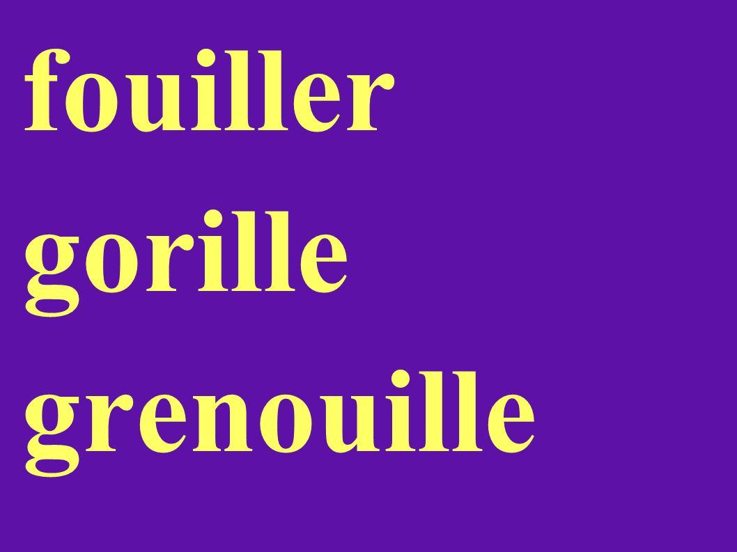 fouiller gorille grenouille
