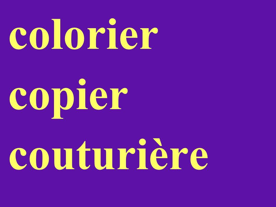 colorier copier couturière