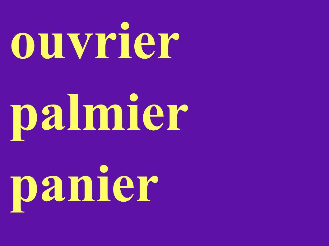 ouvrier palmier panier