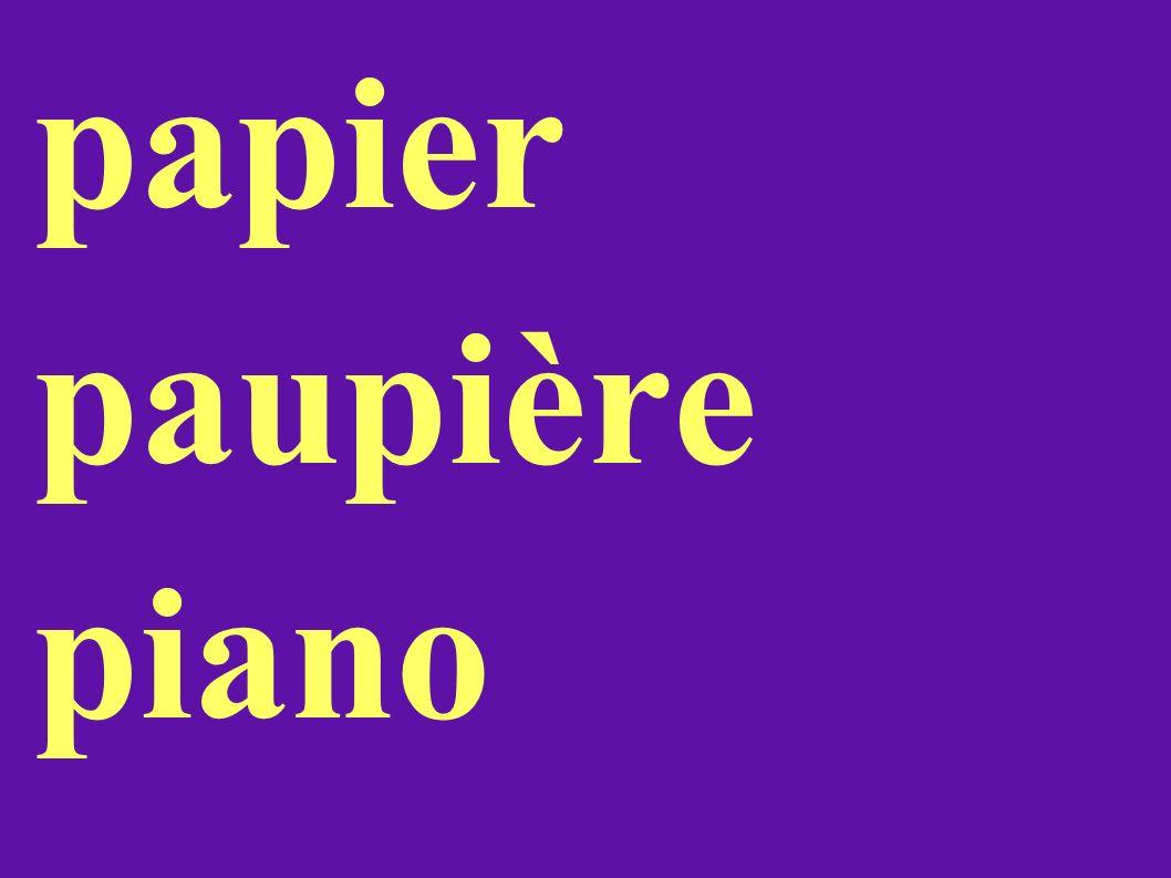 papier paupière piano