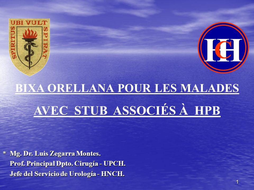 1 * Mg. Dr. Luis Zegarra Montes. Prof. Principal Dpto. Cirugía - UPCH. Prof. Principal Dpto. Cirugía - UPCH. Jefe del Servicio de Urología - HNCH. Jef