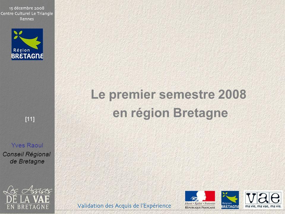 Yves Raoul Conseil Régional de Bretagne [11] Le premier semestre 2008 en région Bretagne