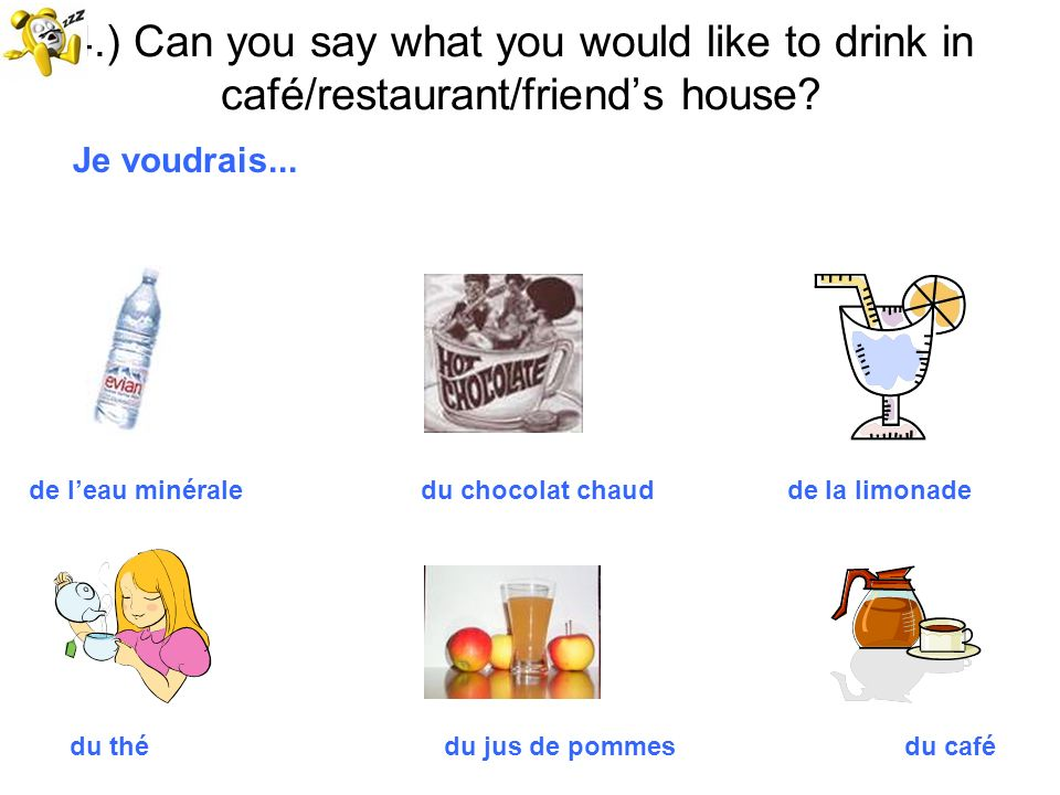 5.) Can you ask where things are in a shop/cafe.Où est / où sont....