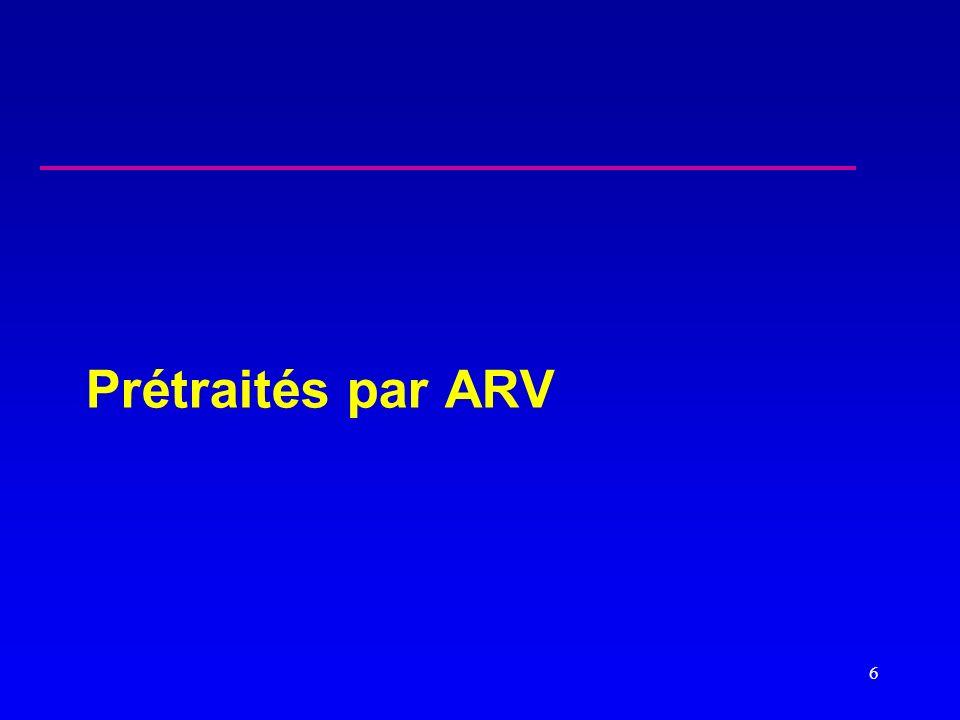Prétraités par ARV 6