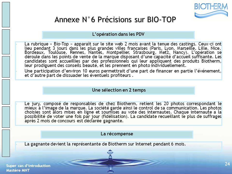 Super cas dintroduction Mastère MNT 23 Annexe N°5 Les fonctionnalités du BEL Visite XX Lien vers le Forum « Trucs et Astuces » Ma trousse de produits