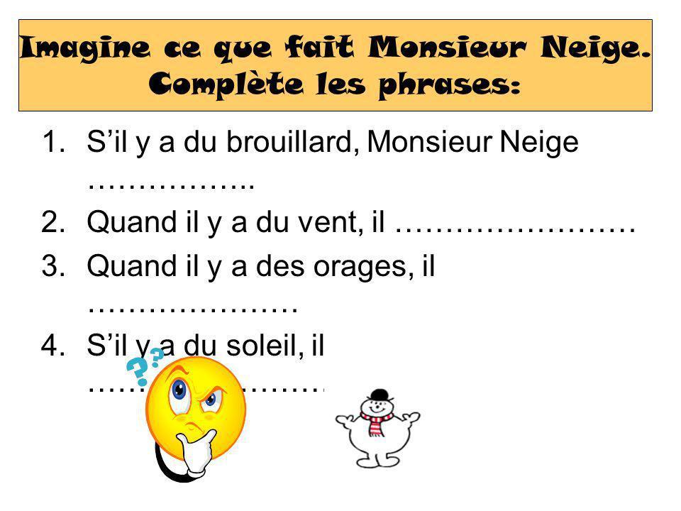 1.Sil y a du brouillard, Monsieur Neige ……………..