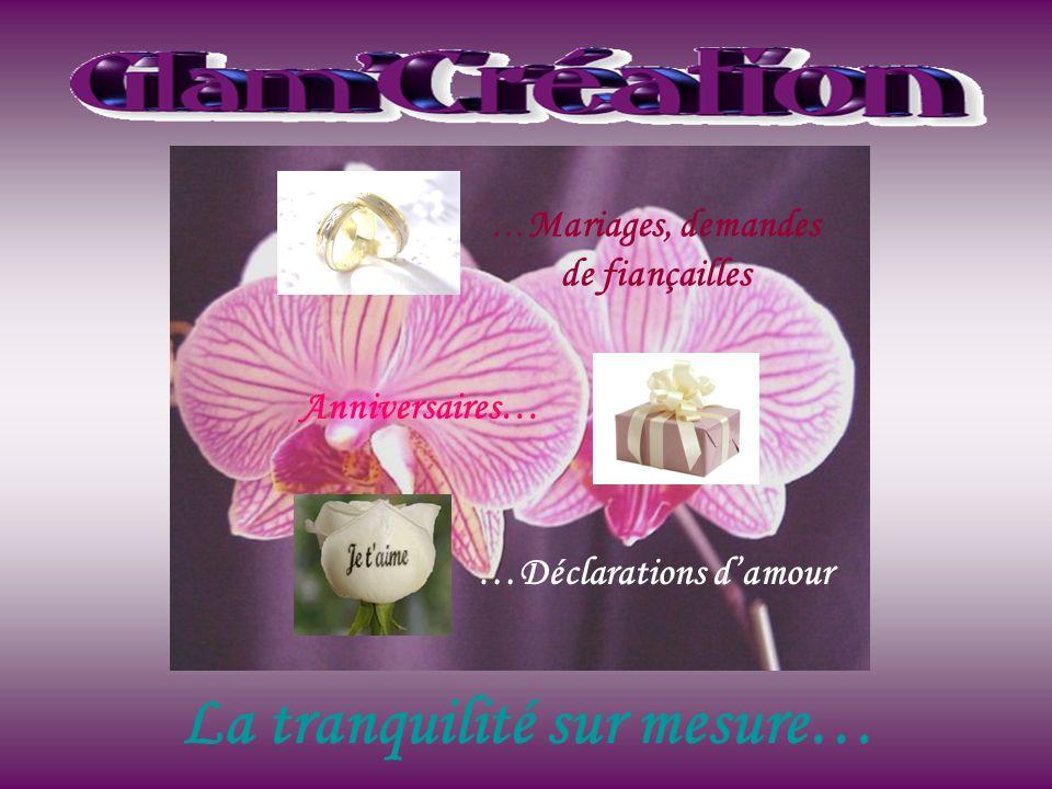 La tranquilité sur mesure… … Mariages, demandes de fiançailles Anniversaires… …Déclarations damour