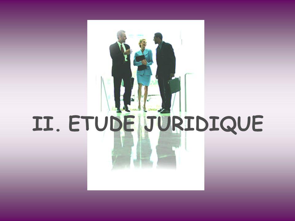 II.ETUDE JURIDIQUE