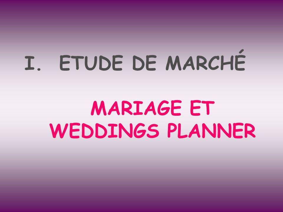 I.ETUDE DE MARCHÉ MARIAGE ET WEDDINGS PLANNER