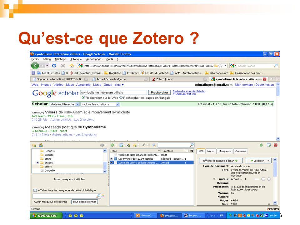 27 Importer des références Problème : Pas dicône zotero dans la barre dadresse Échec de lenregistrement Une solution : Enregistrer les résultats sous forme dun fichier au format RIS ou BibTeX Importer ensuite le fichier dans Zotero Si dans les Préférences, on a coché « Utiliser Zotero pour les fichiers RIS/ Refer téléchargés », on aura un import automatique dans Zotero