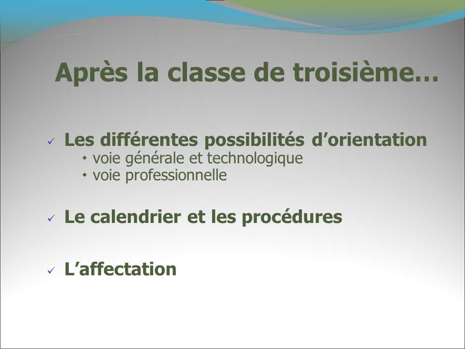 2011 Nous vous proposons le dispositif de présentation des formations suivant: *Janvier: accueil des professeurs principaux de Collège.