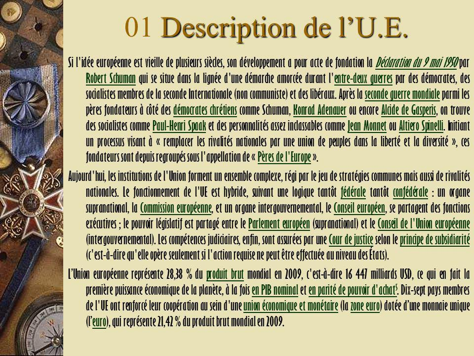 Description de lU.E. 01 Description de lU.E.