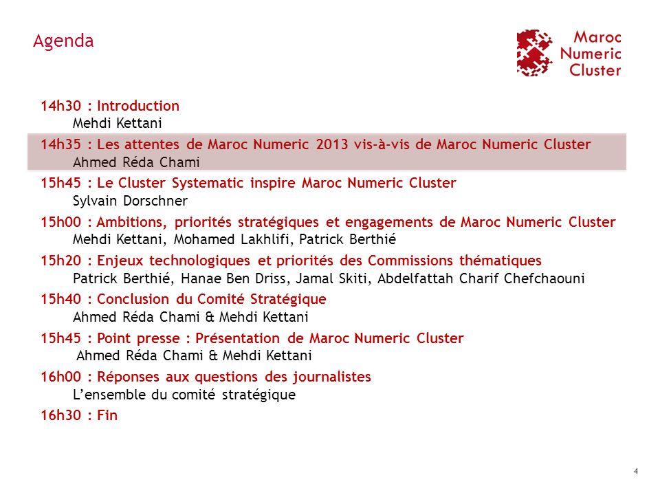Engagement N°2 : Développer des projets innovants Identifier les entreprises innovantes du secteur Faire émerger des projets potentiels par le biais dappels à projets ou via le démarchage Labelliser les projets Maroc Numeric Cluster afin dassurer leur lancement Faciliter laccès au financement pour les porteurs de projets Assurer le suivi des projets 15 Objectifs chiffrés Faire émerger 20 projets innovants dici 2013 (4 en 2011) ; Contribuer au dépôt de 5 brevets dici 2013 ; Initiatives :