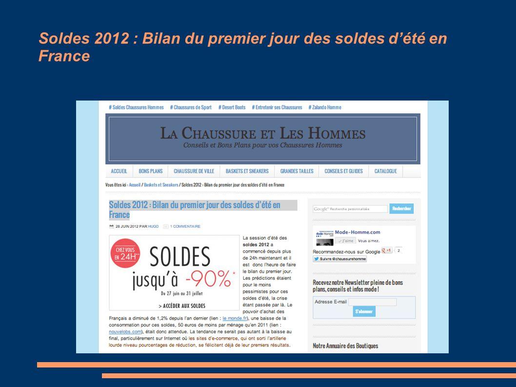 Soldes 2012 : Bilan du premier jour des soldes dété en France