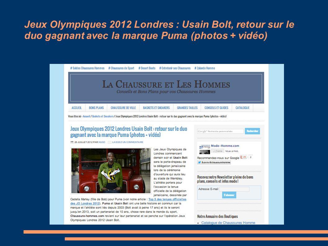 Jeux Olympiques 2012 Londres : Usain Bolt, retour sur le duo gagnant avec la marque Puma (photos + vidéo)