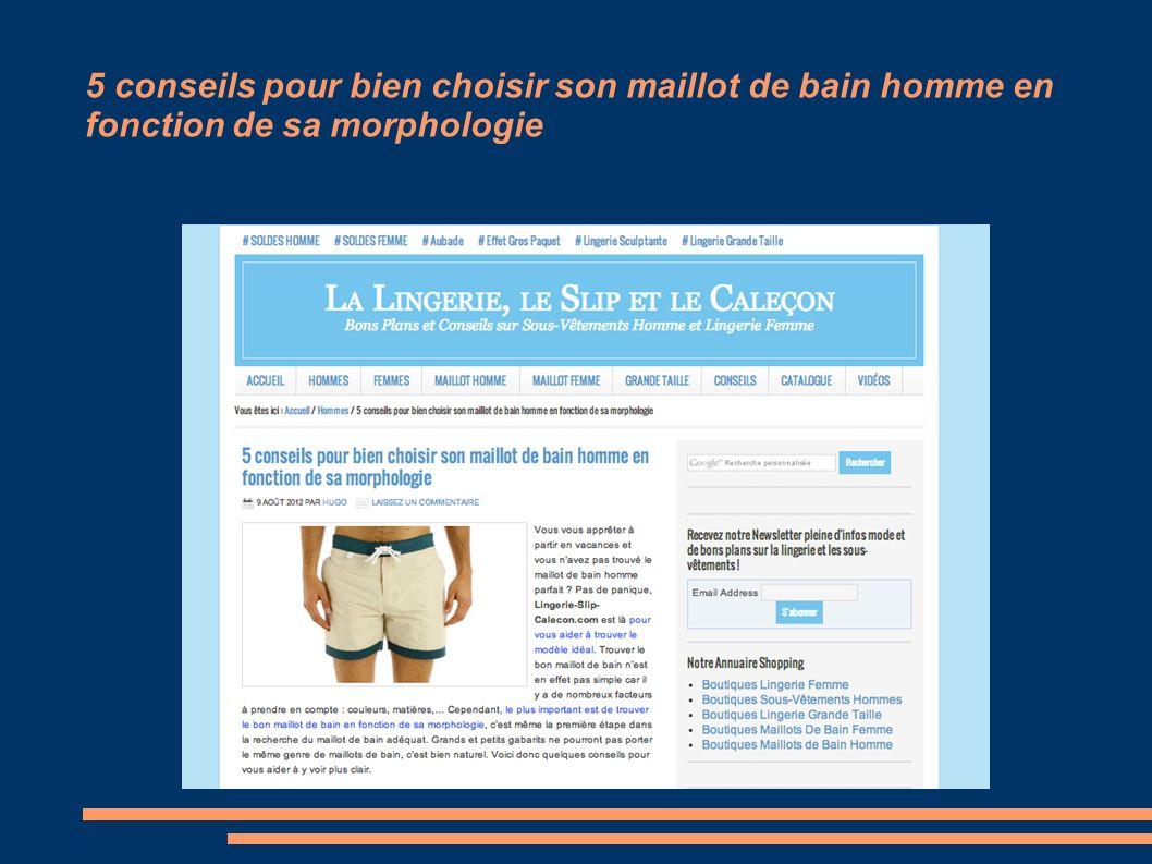 5 conseils pour bien choisir son maillot de bain homme en fonction de sa morphologie