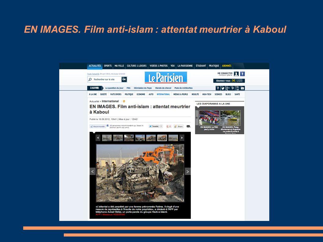EN IMAGES. Film anti-islam : attentat meurtrier à Kaboul