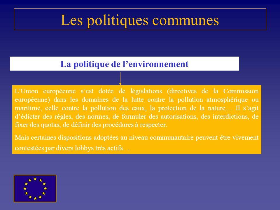 Les politiques communes La politique sociale Les objectifs de lutte contre les inégalités entre les citoyens, de création dune économie fondée sur la
