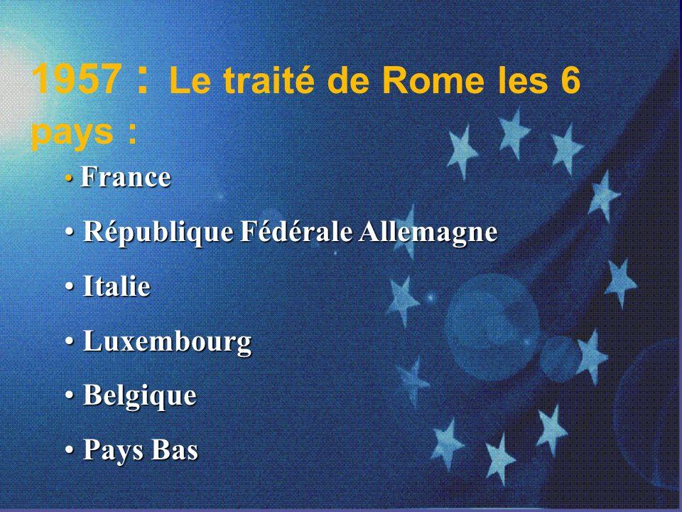 La Construction européenne 19511957 CECA Traités de Rome avec six pays La construction européenne sera d abord économique Création de la CEE Objectifs