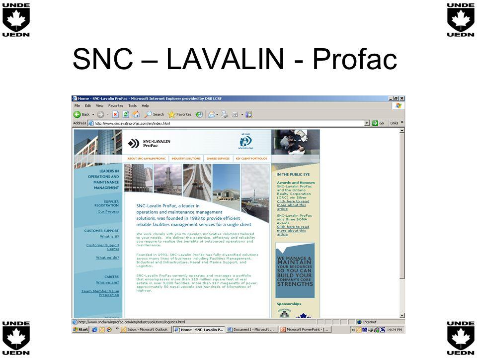 SNC – LAVALIN - Profac