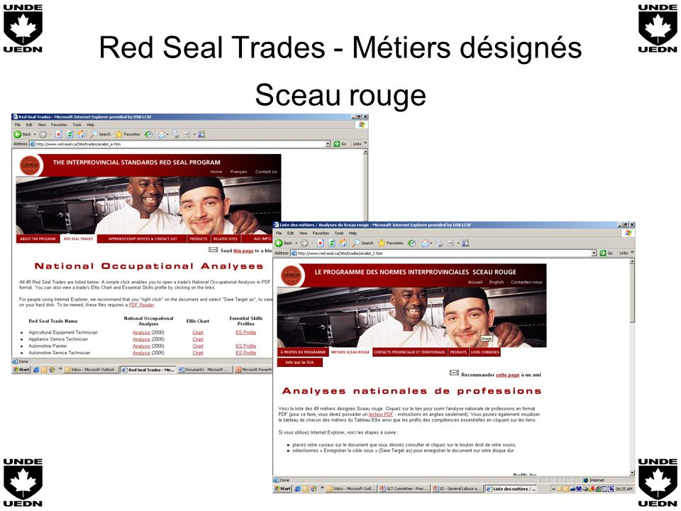 Red Seal Trades - Métiers désignés Sceau rouge