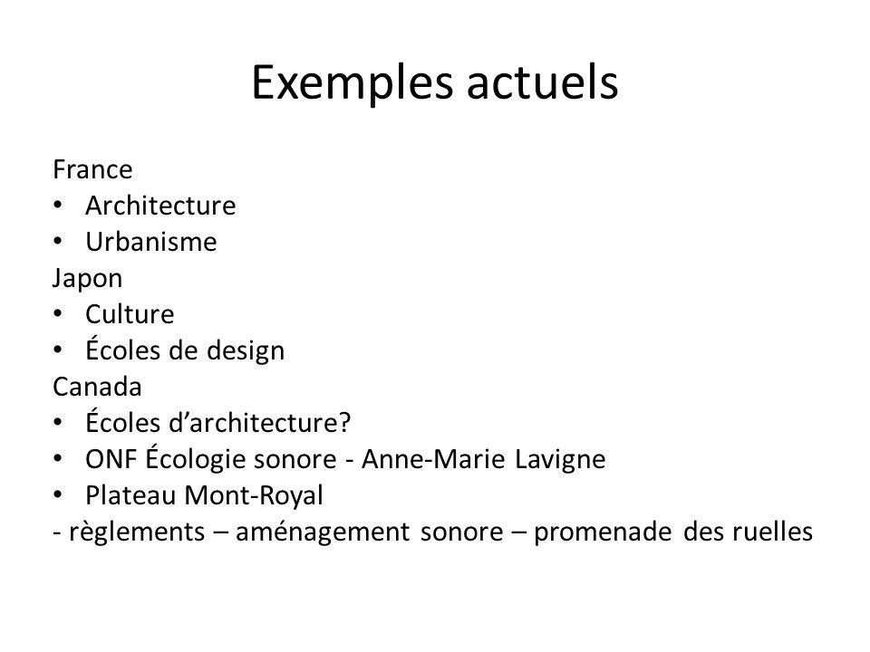 Exemples actuels France Architecture Urbanisme Japon Culture Écoles de design Canada Écoles darchitecture.
